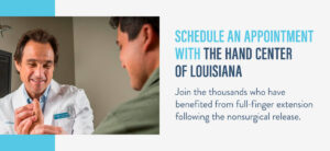 schedule an appointment with the hand center of louisiana